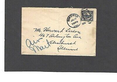 #C5 16c AIRMAIL SAN DIEGO,CA JUL 17-1924 TO ELMHURST,ILL (Elmhurst Ca)