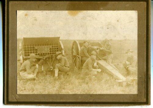/US Army Photo Artillery Crew ww1,6 1/2 x 4 1/2