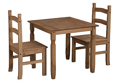 Mercers Furniture® Corona Mexican Pine Rio Square Dining Table and 2 Chairs