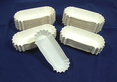 500 Hot Dog Trays Medium Fluted Paper, Eclaire, Corn Dog, Snack, Quick Ship