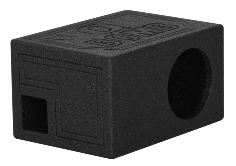 "Rockville RQB65 Single 6.5"" Ported Subwoofer Enclosure Bedlined Sub Box 1.01 Cu"