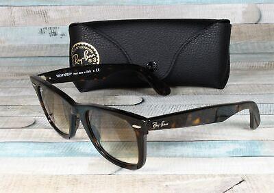RAY BAN RB2140 902 51 Wayfarer Tortoise Crystal Brown Gradient 50 mm Sunglasses Crystal Brown Gradient Sunglasses