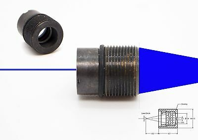 445nm Laser Diode Collimating Coated Focus Lensmp9x0.5x10.5 Half-threaded Frame