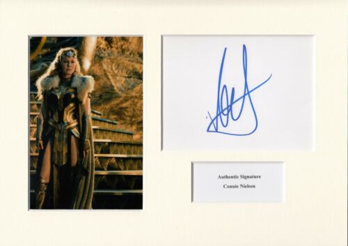 CONNIE NIELSEN AUTHENTIC SIGNED WONDER WOMAN A4 PHOTO DISPLAY AFTAL UACC [14432]