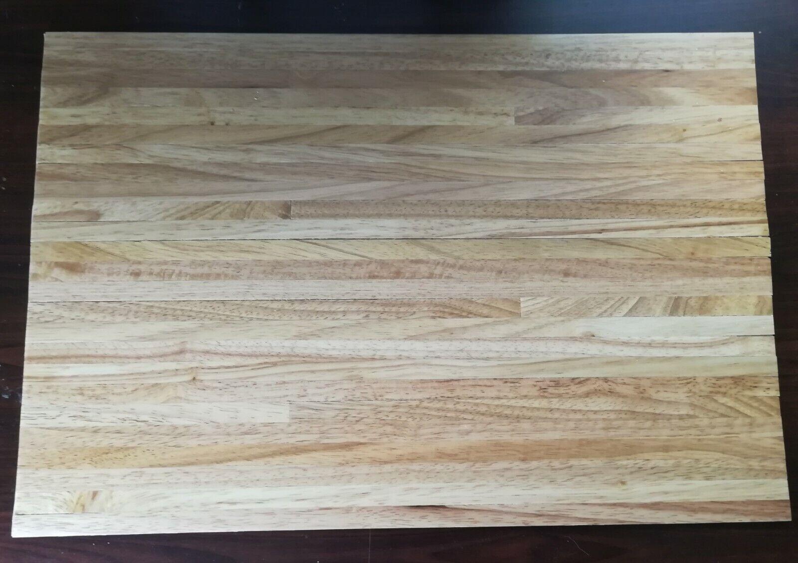 "Dollhouse Miniature 1//4/"" Wide Walnut Wood Plank Flooring  1/"" Scale"