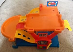 Multi-colored Little People Track / Gas Station toy