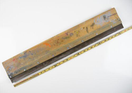 """Vintage Atlas Screen Printing Squeegee 32"""" Long Wood Tool Oil Ink Blade 1970s"""