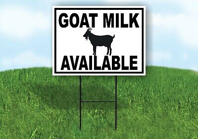 Goat Milk Available Black Border Yard Sign Road With Stand Lawn Sign