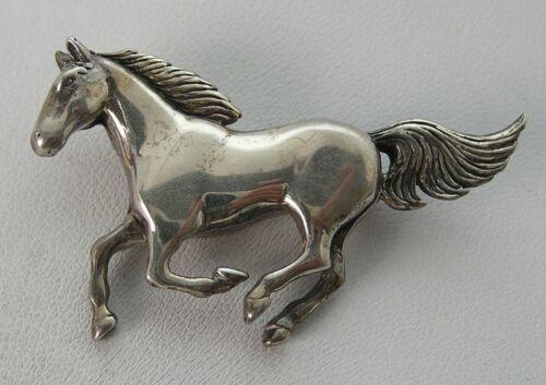 """Vintage Running Horse Navajo Glen Sandoval GS Sterling Pin 11.5g 1-7/8"""" x 1-3/8"""""""