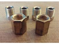 6MM OD x 1.5MTR EASY FLARE COPPER BRAKE PIPE 1 EA 7//16 x 20 MALE//FEMALE NUTS