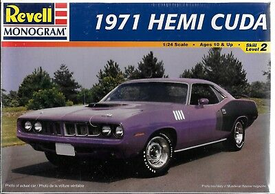 Revell/ Monogram 1971 '71 HEMI  ' CUDA  in 1/24  85-2943