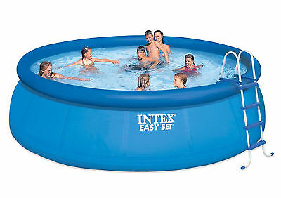 """Intex 15' ft Round x 48"""" Deep Easy Set Above Ground Swimming Pool-Model 28167EH"""