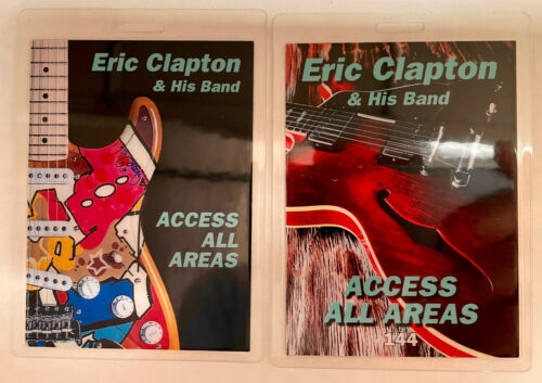ERIC CLAPTON 2018 AAA LAMINATED DOUBLE SIDED BACKSTAGE PASS