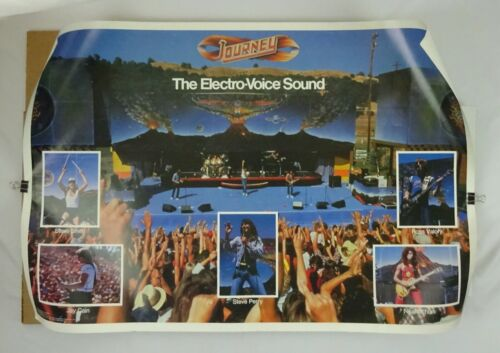 Vintage Journey Promo Poster The Electro-Voice Sound 1981 Nightmare inc