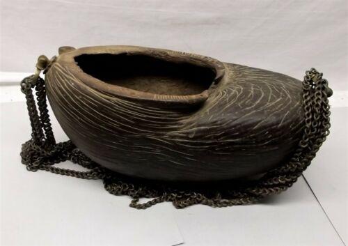 Antique Islamic Coco de Mer Sufi Dervish Kashkul Beggar's Bowl Seed Nut Auth