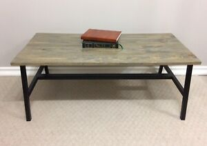 Beautiful handcrafted rustic industrial coffee table