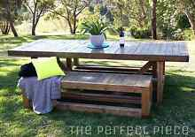 """Custom built, """" NORMANVILLE """"  Rustic sustainable timber table Inglewood Adelaide Hills Preview"""