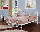 NEW 4ft6 Double Black/White Metal Bed Frame **With Crystal Finials