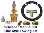 Air-manage-schrader Fill Valve Air Kit With Fittings 25' Airhose