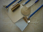 PIZZA OVEN TOOLS, 2 Pizza Peels, brush, Rake, and shovel,