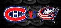 Canadiens vs COLUMBUS 1er déc 2 billets ROUGE A PREMIUM