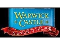 4 x Warwick Castle tickets for sale, Saturday 20th August £35 for all 4 tickets