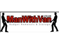 Professional Removals Services with Man with Van Edinburgh, Student Storage, Long distance moves.