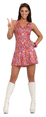 1960's Luv-In-Lucy Costume Adult Small 6-10 Mini Dress Retro Go Go Dancer - 1960's Dance Kostüm