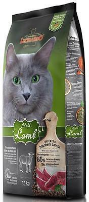 Leonardo Adult Lamb Katzenfutter mit frischem Lamm 15kg + Edelstahlnapf gratis