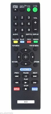 Replacement Remote Control for Sony Blu-ray Disc Player BDP-S185 / BDPS185