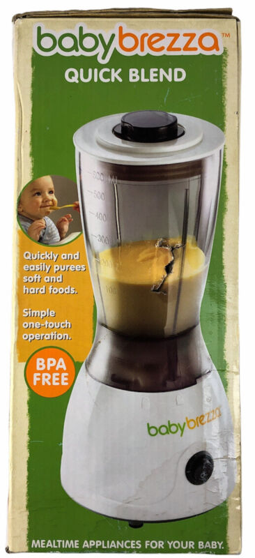 Baby Brezza Quick Blend Small Blender Purees for Baby Food BPA Free Appliance