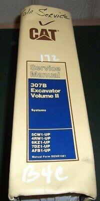 Cat Caterpillar 307b Excavator Service Shop Repair Manual Book 5cw 4rw 6kz 7dz