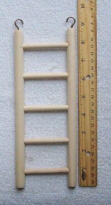 Wood Ladder Sized for Parakeets Love Birds etc. Parrot Bird Toy Climb