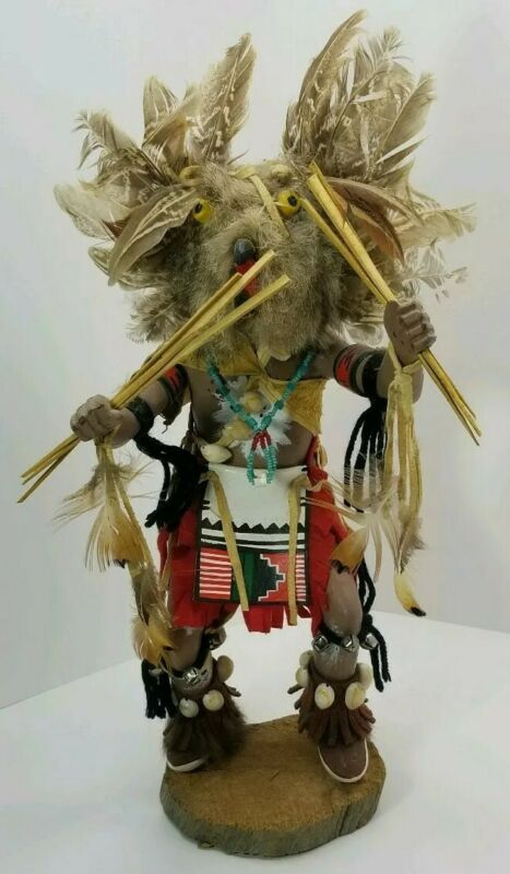 "Vintage  Kachina Doll 16""  ""Mongwa The Owl"" Signed"