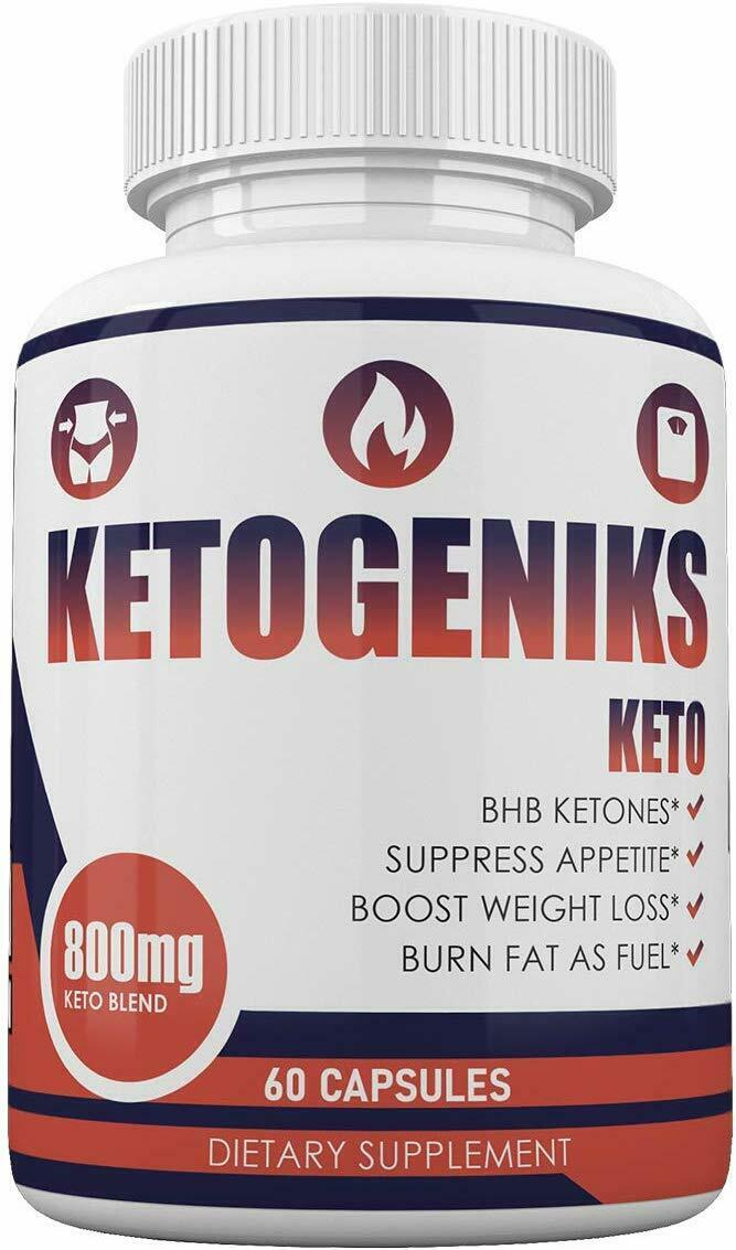 KETOGENIKS KETO 1 MONTH SUPPLY 60 CAPSULES **FAST SHIPPING**