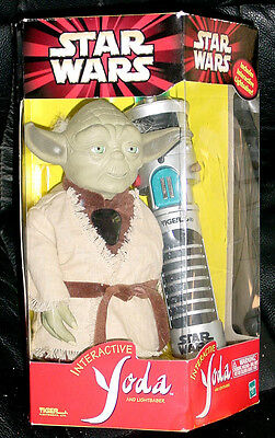 star wars yoda interactive light saber by