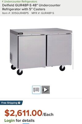Delfield Gur48p-s 48 Undercounter Refrigerator With 5 Casters