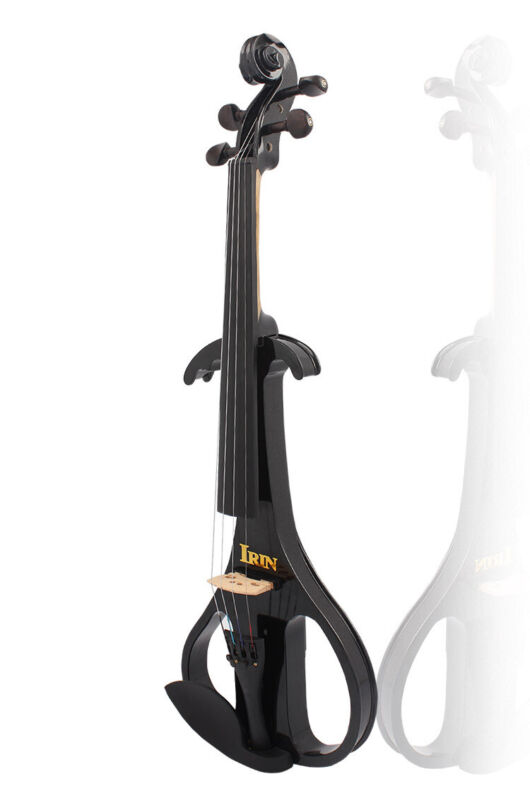 Black AU-02 Electroacoustic Violin Ebony Violin Violin Instrument