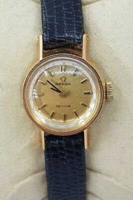 Omega De Ville Gold Plated Swiss Ladies Watch Cal 484 Ref 511.166 Diamond Cut