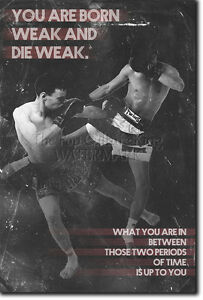 MUAY THAI MOTIVATIONAL PHOTO PRINT 06 MOTIVATION QUOTE POSTER MMA MARTIAL ARTS