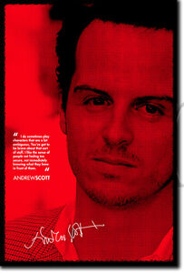 ANDREW SCOTT SIGNED PHOTO PRINT AUTOGRAPH POSTER GIFT SHERLOCK JIM MORIARTY