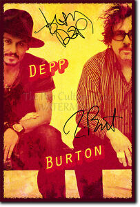 JOHNNY DEPP TIM BURTON SIGNED PHOTO PRINT 3 EDWARD SCISSORHANDS AUTOGRAPH POSTER