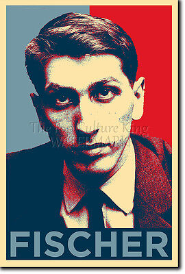 Unique Photo Art (BOBBY FISCHER POSTER - Unique Photo Art Print Gift Chess )