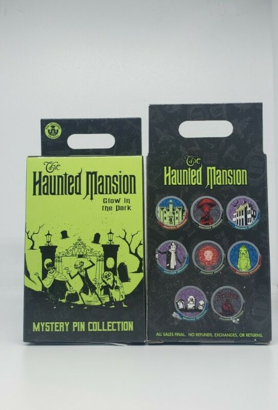 Disney Haunted Mansion 2 Pins in Box Mystery Collection Glow in the Dark