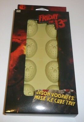 Halloween The Film Cast (Jason Voorhees Hockey Mask Ice Cube Tray Friday the 13th Horror Movie Mold)