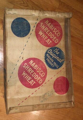 Antique Nabisco Shredded Wheat LARGE Shipping Carton