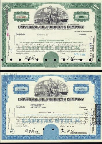 2 x diff. UNIVERSAL OIL PRODUCTS ( now Honeywell / UOP  Des Plaines Iowa)