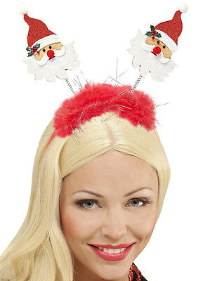 Mann Haar (Weihnachtsmann Haarreifen mit Glitzer Mütze Hut Weihnachten Weihnachtsfeier)