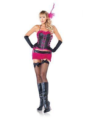Sexy Costume Burlesque Flapper Charleston Mini Gonna Frange Corsetto Leg Avenue