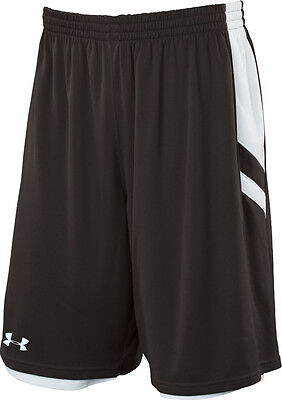 New UNDER ARMOUR Undeniable Reversible Basketball Shorts men XL Sooty White